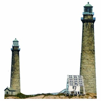Cape Ann Twin Lighthouse Cardboard Cutout - $0.00