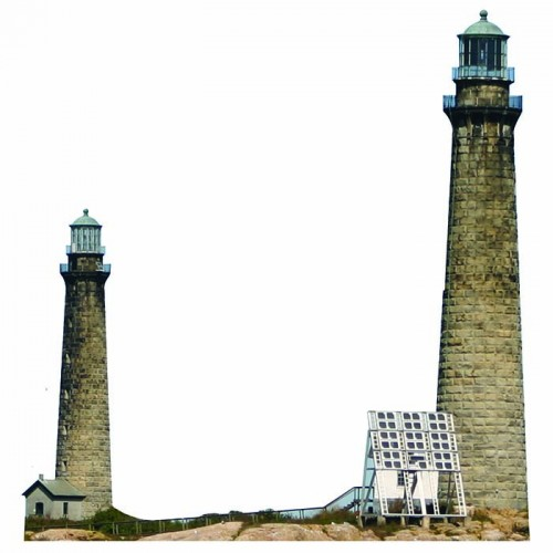 Cape Ann Twin Lighthouse Cardboard Cutout