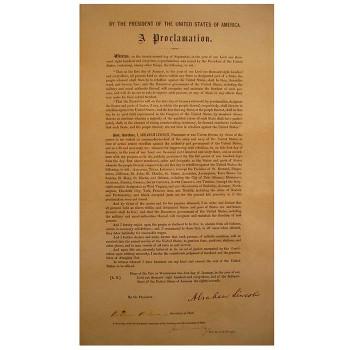Emancipation Proclamation Cardboard Cutout