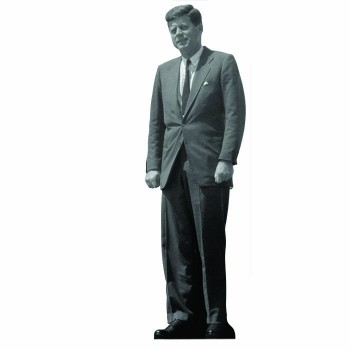 John F Kennedy Color Cardboard Cutout - $0.00