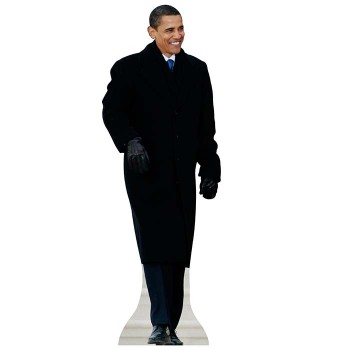 Barack Obama Coat Cardboard Cutout - $0.00
