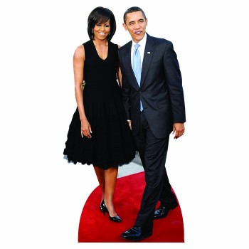 H25044 V3 Michelle and Barack Obama Cardboard Cutout - $0.00