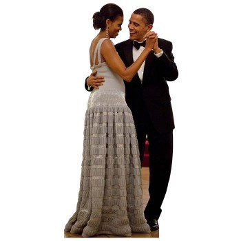 Barack Michelle Obama Dance Cardboard Cutout - $0.00
