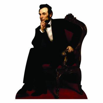 Abraham Lincoln Sitting Cardboard Cutout - $0.00