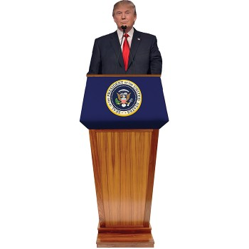 Donald Trump Podium Cardboard Cutout - $0.00