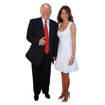 Donald Trump and Melania Cardboard Cutout - $0.00