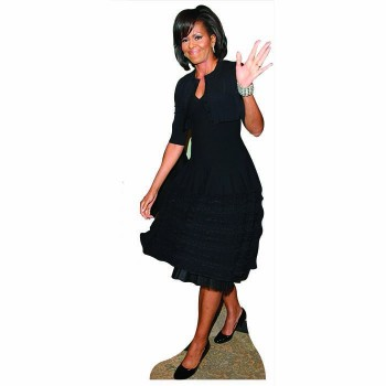 Michelle Obama Black Dress Cardboard Cutout - $0.00
