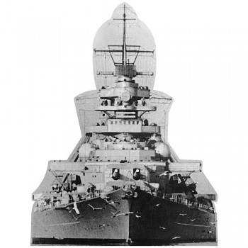 Bismarck Black and White Cardboard Cutout