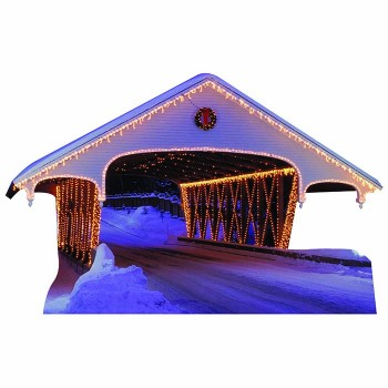 Christmas Covered Bridge Cardboard Cutout