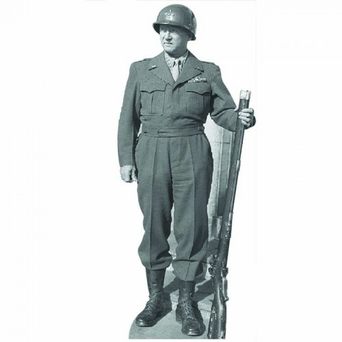 General Patton Cardboard Cutout