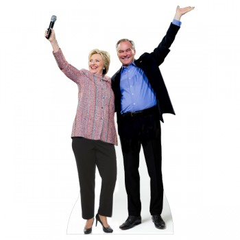 Hillary Clinton and Tim Kaine Cardboard Cutout