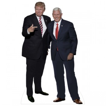 Donald Trump and Mike Pence Cardboard Cutout - $0.00
