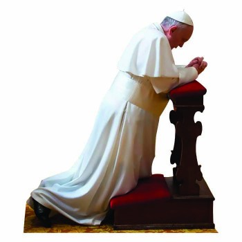 Pope Francis Praying Cardboard Cutout - $0.00