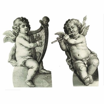 Twin Cherubs Cardboard Cutout - $0.00