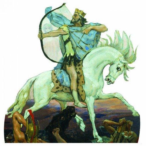 Four Horsemen White Conquest Cardboard Cutout