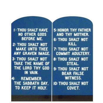Ten Commandments Cardboard Cutout - $0.00