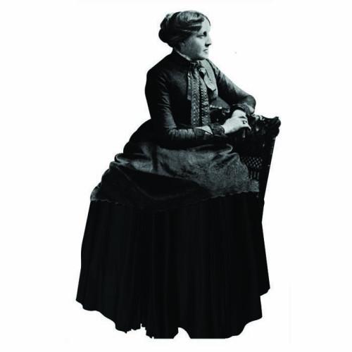 Louisa May Alcott Cardboard Cutout