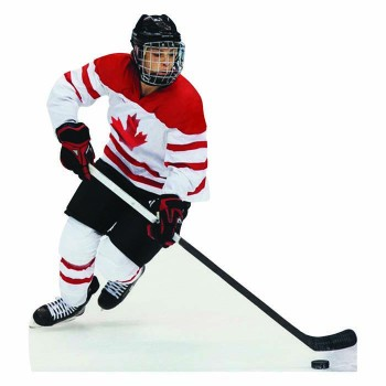 Canadian Hockey Player Cardboard Cutout