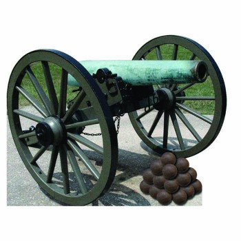 Civil War Cannon Cardboard Cutout