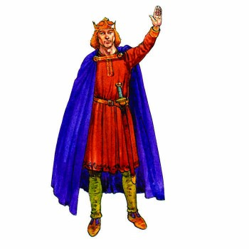 King Alfred the Great Cardboard Cutout