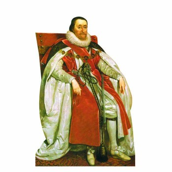King James I Cardboard Cutout - $0.00