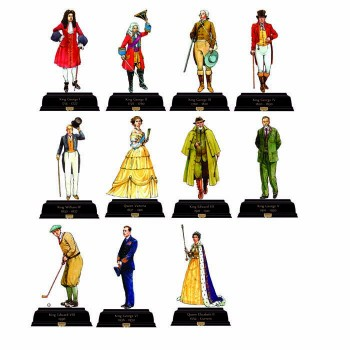 British Kings and Queens Pack 5 1714-Current Cardboard Cutout