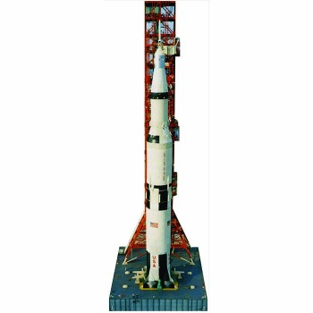 NASA Saturn V Rocket Cardboard Cutout - $0.00