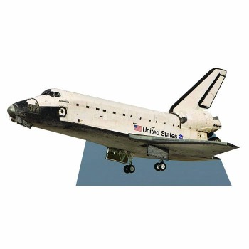 Space Shuttle Atlantis Cardboard Cutout - $0.00