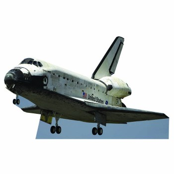 Space Shuttle Discovery Cardboard Cutout - $0.00