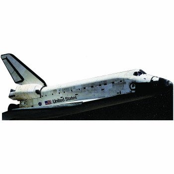 Space Shuttle Flying Cardboard Cutout - $0.00
