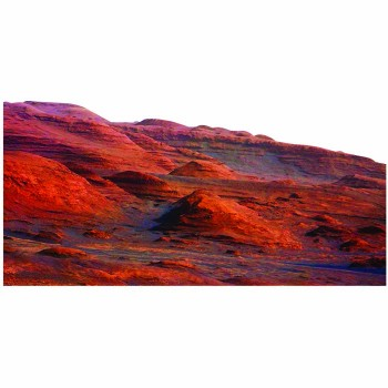 Mars Mount Sharp Space Curiosity Aeolis Mons Cardboard Cutout - $0.00