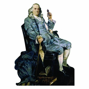 Benjamin Franklin Chair Cardboard Cutout