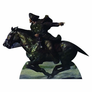 Paul Revere On Horse Cardboard Cutout