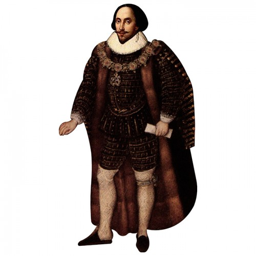 William Shakespeare Cardboard Cutout