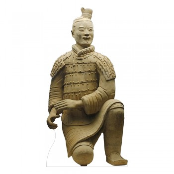 Terracotta Warrior Crouching Cardboard Cutout