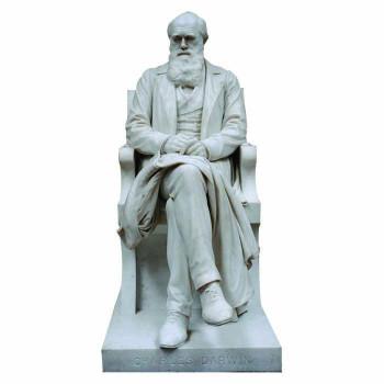 Charles Darwin Statue Cardboard Cutout
