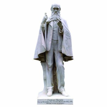 Charles Darwin Satue Standing Cardboard Cutout - $0.00