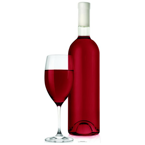 Glass and Red Wine Cardboard Cutout