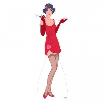Red Flapper Cardboard Cutout - $44.95