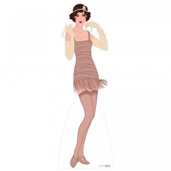 Brown Flapper Cardboard Cutout - $44.95