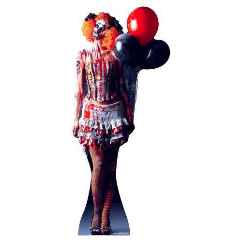 IT IS A VERY Scary Female Clown Cardboard Cutout