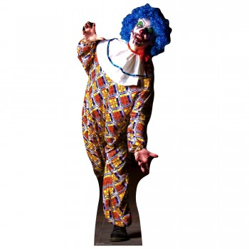 IT IS A VERY Scary Male Clown Cardboard Cutout