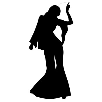 Disco Dancer Female Silhouette Cardboard Cutout - $44.95