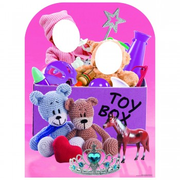 Girl Toy Box Stand In Cardboard Cutout - $44.95