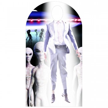 Alien Abduction Standin Cardboard Cutout