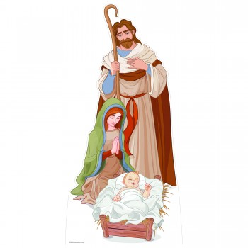 Nativity Scene Cardboard Cutout - $48.99