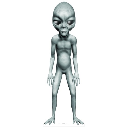 Grey Alien Star Mini Cardboard Cutout