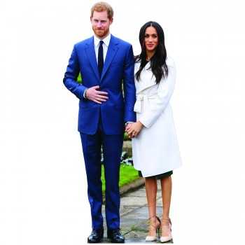 Prince Harry and Meghan Cardboard Cutout