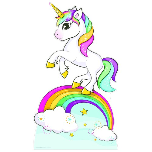 Rainbow Unicorn Cardboard Cutout