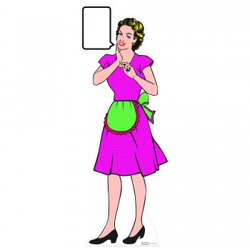 1950s Style Housewife Pop Art Cardboard Cutout